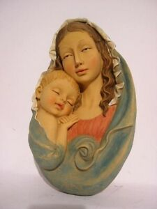 Madonna With Child, 23 CM, Wandportrait to Hang, New