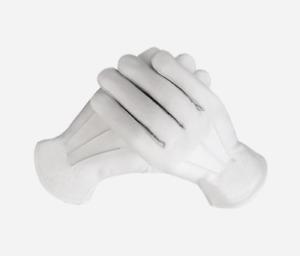 White Leather Masonic Regalia Gloves Ceremonial Bands Military Masonic Services