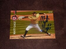 MATT GAGE SIGNED BASEBALL CARD 2016 RICHMOND FLYING SQUIRRELS AUTOGRAPHED GIANTS