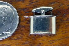 Lighter Cigar Cigarette Movable 3D charm Vintage sterling silver Wwi Table Top