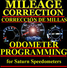 Saturn Speedometer Instrument Gauge Cluster Mileage Odometer PROGRAMMING