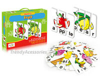 Puzzle Cards Self Correcting Jigsaws Kids Word Letter Game Learning Spelling Toy