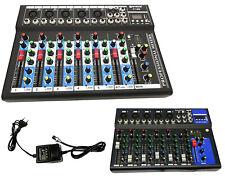 PDR*MIXER AUDIO PROFESSIONALE 7 CANALI USB CON ECHO-DELAY dj karaoke pianobar