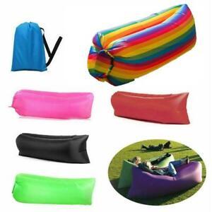 Inflatable Lazy Air Bed Lounger Couch Chair Sofa Bag Hangout Camping Beach Bean