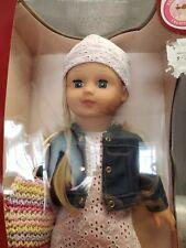 "Gotz Doll Precious Day Girl 18"" Blonde with Blue Sleeping Eyes New in Box"