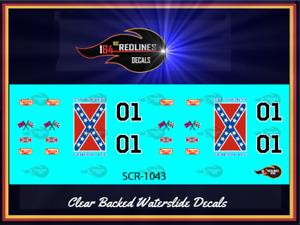 "1/64 Bone Shaker ""General Lee"" CUSTOM Decal SCR-1043"