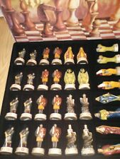 CHESSMEN Summit Collection Fantasy Knights Dragons Chess 32 Hand Painted Figures