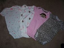 Lot of 4 Carters Child of Mine One Piece Rompers Size 3-6 Months