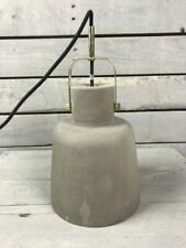 Pendant Ceiling Concrete Lamp w / Black Wire Danish Design by Hubsh