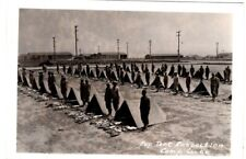 Postcard - 111a US Army Pup Tent Inspection, Camp Cooke, CA
