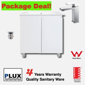 Package Deal Bathroom Vanity Floor Standing 750+Ceramic top+Mixer+Plug Waste