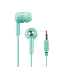 "Hama ""Basic4Music"" in-ear stereo earphones in Arcadia Mint Green(UK Stock) NEW"