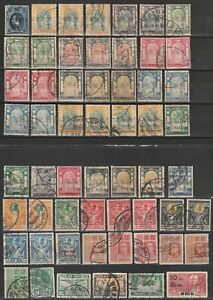 Thailand 1883-1932 nice interesting small collection used on 2 cards