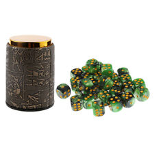 Dice Cup with 6 Sided Spot Dices Set for KTV Pub Party Board Game Accessory