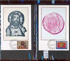STAMPS 2 CARD MAXIMUN VATICAN CITY POPE (L7284)