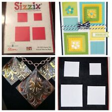 Sizzix Die Squares Original Photo Album Page Scrapbook Diecut Retired Square Set
