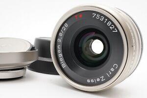 [MINT Hood Filter Caps] CONTAX Carl Zeiss T Biogon 28mm f/2.8 Lens G1 G2 Japan