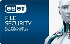 ESET FILE SECURITY FOR MICROSOFT WINDOWS SERVER UNIQUE GLOBAL 3 YEAR LICENSE KEY