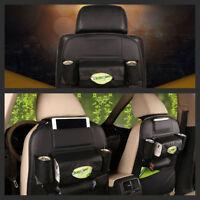 Car Black Car Seat Back Multi-Pocket Leather Storage Bag Organizer Holder New