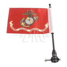 Luggage Rack Bracket Mount Pole Red US Marine Corps Flag For Harley Sporster 883
