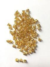 100 Stück Perlenkappen 6x5mm Gold Kappen Perlen Blume Filigran Perlkappen - 1103