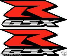 2 GSXR Decals Stickers 600 750 1000 emblem Decal bike Orange graphics Stickers