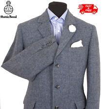 Vintage Harris Tweed Jacket Blazer 42R Country Marl Weave Hacking Hunting Blue