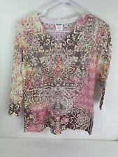 EUC Wrangler Western Shirts Woman's Long sleeve lace shirt size Small Pink