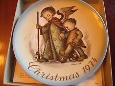 1974 Hummel Christmas plate. Euc in box. The Guardian Angel.