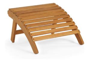 Foot Stool Garden/Patio Wooden Outdoor Lounger Hardwood Decking Bench New UK