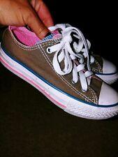 Converse All Star Little Girl Sz. 12 Gray Lace Sneaker. Classic, Great Shape