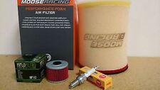 Kawasaki Tune up kit Spark Plugs + Air / Oil Filter KFX450R KFX 450R 2008-2014