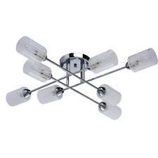 Lámpara de Techo de Metal Cromado Moderna Original Plafones de Vidrio Para Salón