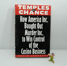 Temples of Chance by David Johnston, Hardcover Mint