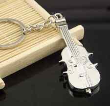 New Mini Creative Violin Charm Metal Keyring Keychain Key Ring Chain Fob Gift