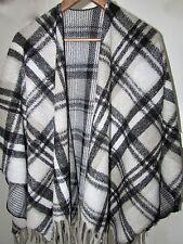 Ladies Poncho Cape Scarf XXL Tunic Shawl 100 Wool