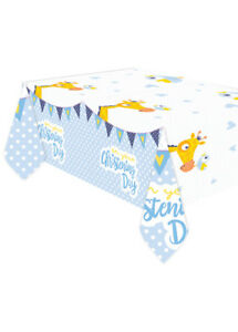 Blue On Your Christening Day Plastic Tablecover
