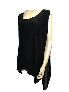 Camilla Franks Black Sheer Silk Tunic Top M