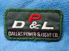 Vintage Dallas Power & Light Patch Utilities Electric Company Loft Uniform Shirt