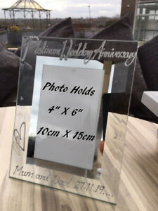 Personalised 70th Wedding Anniversary Picture Photo Frames