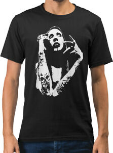 Marlyn Manson Rock Icon Caricature New Mens T-shirt