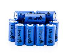 10x protegido BRC ultrafire 16340 Li-ion recargable baterías 1200 Mah