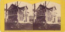 Villa Mouginsde Roquefort Mazargues Marseille Stéréo Vintage albumine 1882
