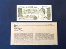 -  Saint / St. Helena  £1 pound  Great Historic Banknotes of the World A1 Prefix