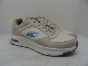 Skechers Men's Arch Fit Fury Lace Up Athletic Casual Shoe Taupe/Tan Size 12M
