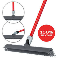 Silicone Rubber Broom & Squeegee, Washable, Scratch Free, Perfect for Pet Hair
