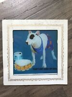 VINTAGE 1987 SPUDS MACKENZIE CARNIVAL MIRROR BUD LIGHT BEER SIGN