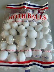 ~ 50pcs Round Moth Discs Oval MothBalls clothes, Kills Moths, Larvae and Eggs