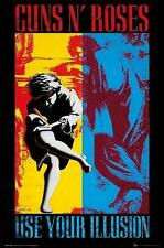 "Guns N 'ROSES bandiera/bandiera ""use your illusione I & II"" POSTER FLAG POSTERFLAG"