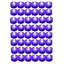 Purple 48 Pack ~ Submersible Waterproof Battery Led Tea Light ~ Wedding Decorati